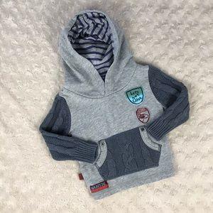 Naartjie Kids Hooded Pullover Gray 6-12 Months